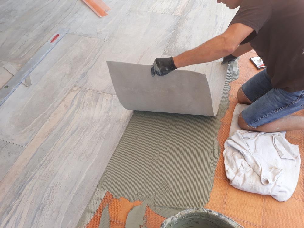 Verlegung Literoc Sandsteinfurniere